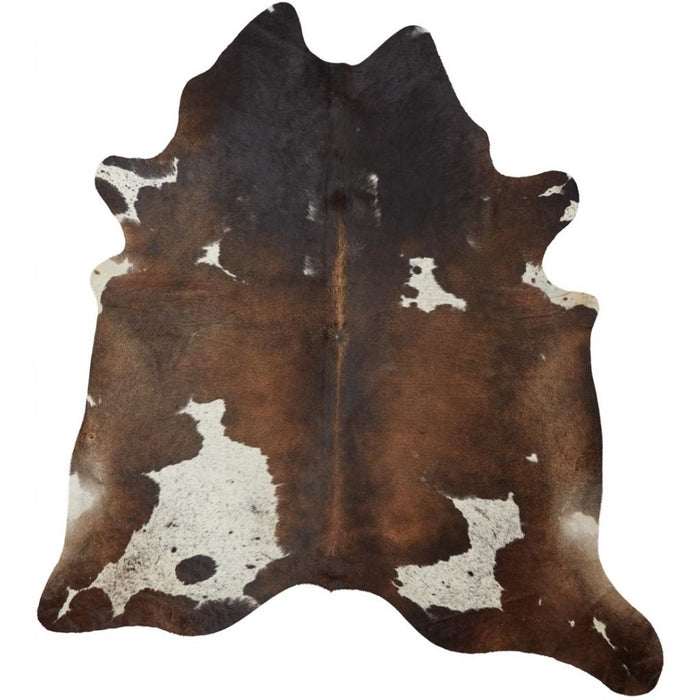 NC Cowhide UNIKA Cow Hide. Size: 4,27 m2. Color: D. Brown Reddish Hides