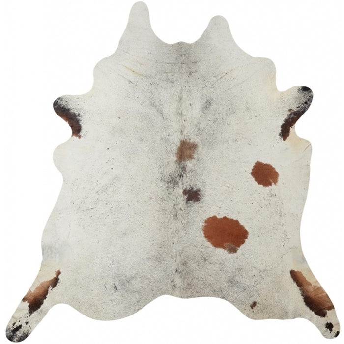 NC Cowhide UNIKA Cow Hide. Size: 3,97 m2. Color: Salt & Pepper Brown/White Hides