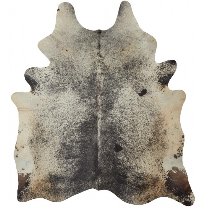 NC Cowhide UNIKA Cow Hide. Size: 3,8 m2. Color: Salt & Pepper Black/White Hides