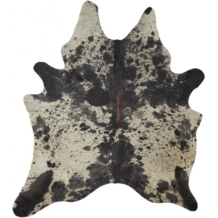 NC Cowhide UNIKA Cow Hide. Size: 3,65 m2. Color: Salt & Pepper Black/White Hides