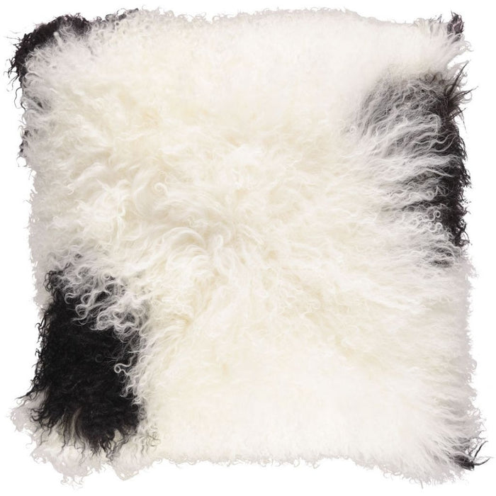 NC Living Tibetan sheepskin Cushion | 40x40 cm. Cushions Weiß/schwarz