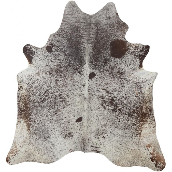 NC Cowhide UNIKA Cow Hide. Size: 3,01 m2. Color: Salt&pepper brown/white Hides