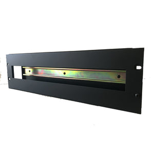 "3u 19"" Rack Mount DIN Rail Panel Bracket With Cover"