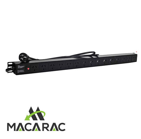 "15 WAY PDU (Vertical) SURGE PROTECTED (19"" Inch Rack-Mount Application)"