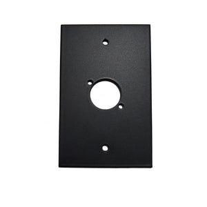 XLR Wall Plate Single XLR (Aluminium Matt Black)