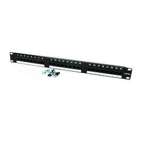 "1U PATCH PANEL(CAT6 / RJ45 24 Port /P/C Black 19"" Inch Rack-Mount Application)"