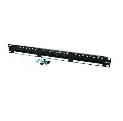 1U PATCH PANEL(CAT6 / RJ45 24 Port /P/C Black 19