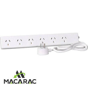 6 Way Power Board HPM Includes Flat Fitting Plug and overload 10A
