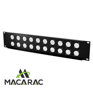"2U 20 WAY XLR / PATCH PANEL Suit BNC & More / 19"" Inch Rack-Mount Application"