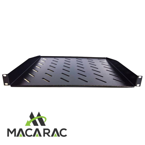 "1U 400 mm Deep Cantilever Shelf / Tray Vented  (19"" Rack-Mount Application)"