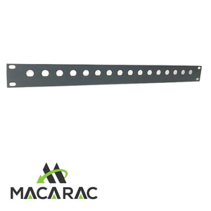 "1U BNC PANEL 10 WAY (steel) (19"" Inch Rack-Mount Application)"