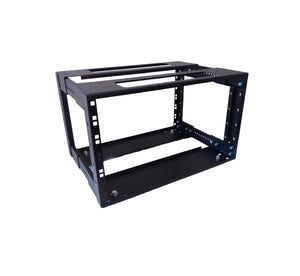 "6U Adjustable Depth Open Rack 4 Post 19"" 250-350mm Deep"