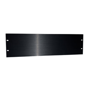 3U Brushed Anodized Aluminium Rack Panel
