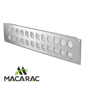"2U ALUMINIUM XLR PANEL (20 Way) (19"" Inch Rack-Mount Application)"