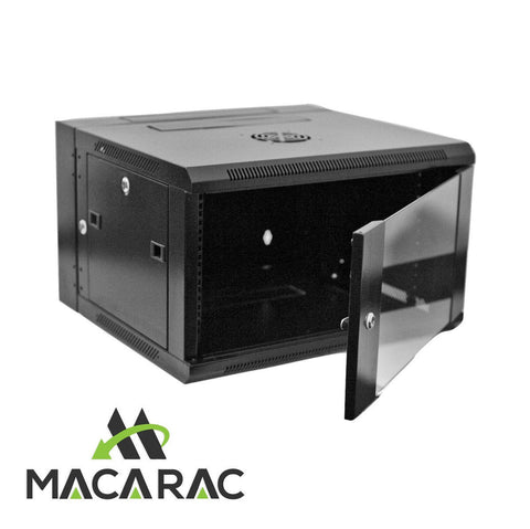 "12U 550 WALL SWING MOUNT DATA CABINET (19"" Rack / Provision for 2 x 240v Cooling Fan)"