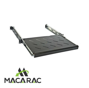 "1U SLIDING KEYBOARD SHELF (Adjustable Depth / 19"" Inch Rack Mount Application)"