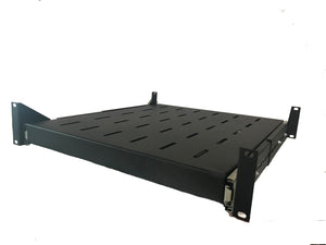 2U 500mm Deep Vented Sliding Server Rack Shelf (Heavy Duty 50kgs)