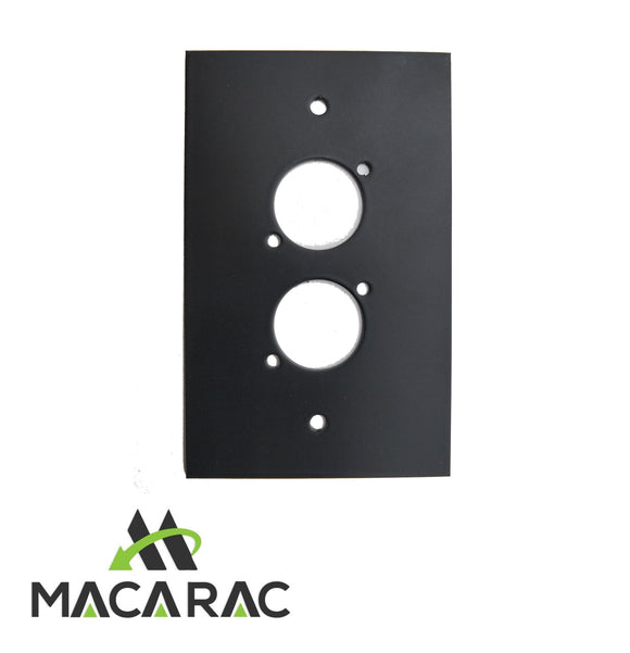 XLR Wall Plate Double XLR (Aluminium Matt Black)