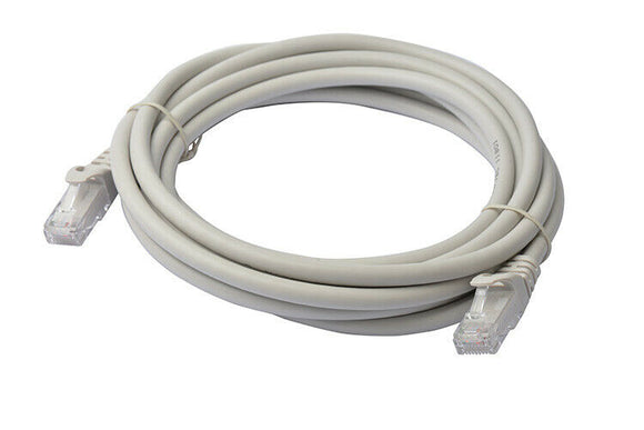 8Ware Cat6a UTP Ethernet Cable 3m Snagless Grey