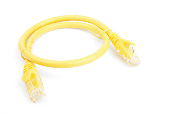 8Ware Cat6a UTP Ethernet Cable 25cm Snagless Yellow
