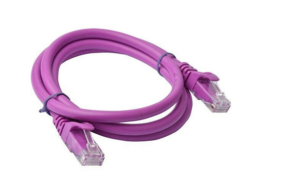 8Ware Cat6a UTP Ethernet Cable 1m Snagless Purple