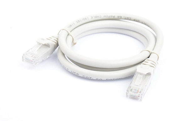 8Ware Cat6a UTP Ethernet Cable 1m Snagless Grey