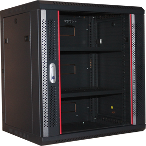 18U 450mm Redback Wall Mounted Data Cabinet Fully Assembled Welded + Fixed Shelf