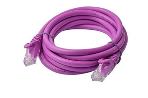 8Ware Cat6a UTP Ethernet Cable 2m Snagless Purple