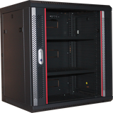 9U 450mm Redback Wall Mounted Data Cabinet Fully Assembled Welded + Fixed Shelf