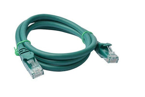 8Ware Cat6a UTP Ethernet Cable 1m Snagless Green