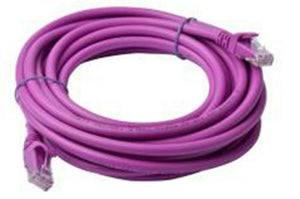 8Ware Cat6a UTP Ethernet Cable 5m Snagless Purple