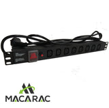 "1U 8WAY IEC POWER DISTRIBUTION UNIT AU (PDU) 19"" Inch Rack-Mount Application"