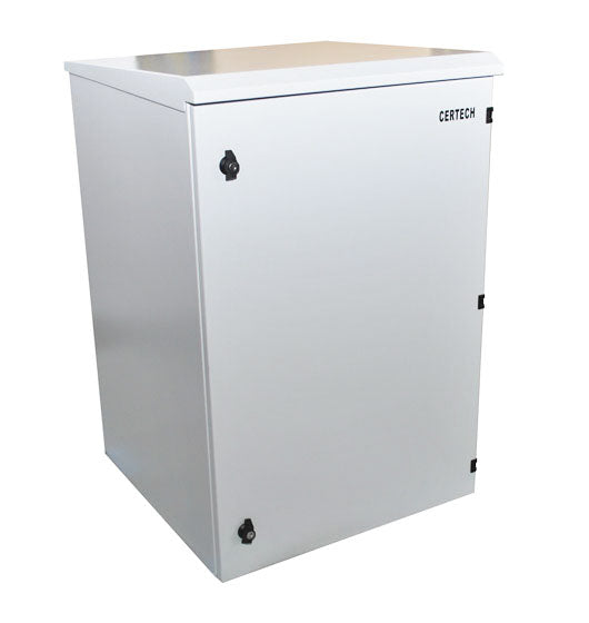 18U 400mm Deep IP65 Rated Non-Vented Outdoor Wall Mount Cabinet