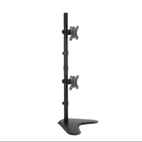Brateck Dual Screens Economical Double Joint Articulating Steel Monitor Stand Fit Most 13