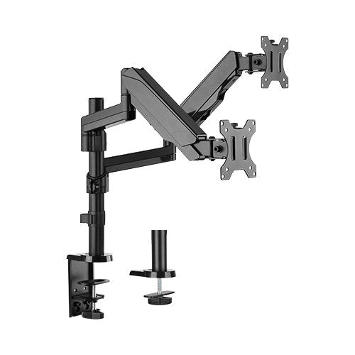 Brateck Dual Minitor Full Extension Gas Spring Dual Monitor Arm (independent Arms) Fit Most 17