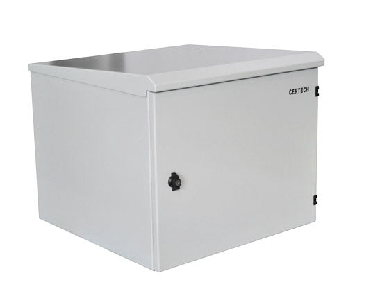 9U 400mm Deep IP65 Rated Non-Vented Outdoor Wall Mount Cabinet