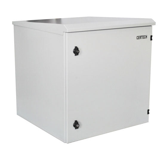 12U 400mm Deep IP65 Rated Non-Vented Outdoor Wall Mount Cabinet
