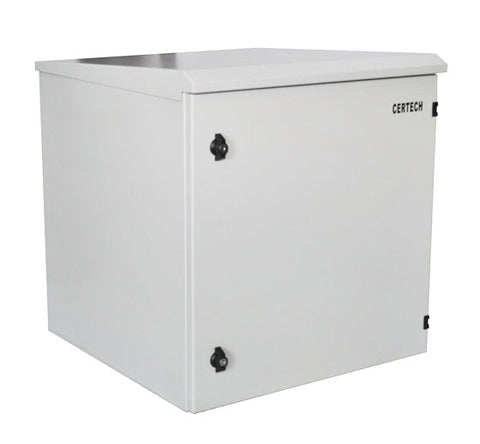 12U 600mm Deep IP65 Rated Non-Vented Outdoor Wall Mount Cabinet