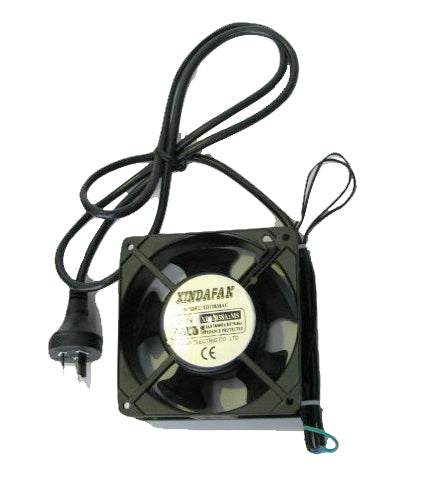120mm X 25mm 240Vac FAN / inc 240v LEAD AND PLUG)