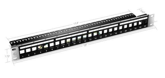 1U 24 Ports STP/UTP Blank Keystone High Quality Patch Panel
