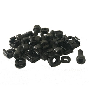 "19"" Premium Rack Socket Head Fasteners 12 Pack (Quality Bolts /Captive Washers/ Cage nuts"