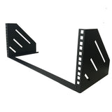 "4U Steel Vertical/Horizontal Wall Mount / Under Desk Rack Bracket (Black) 19"" Application"
