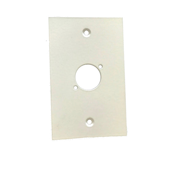 XLR Wall Plate Single XLR (Aluminium Matt White)