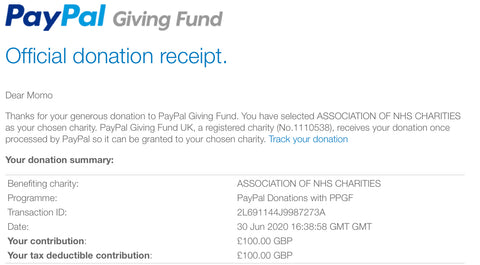 NHS Charity together Donation