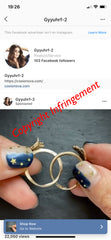 Copyright infringement - Jewelry inlaid 2-in-1 finger ring hand ornament