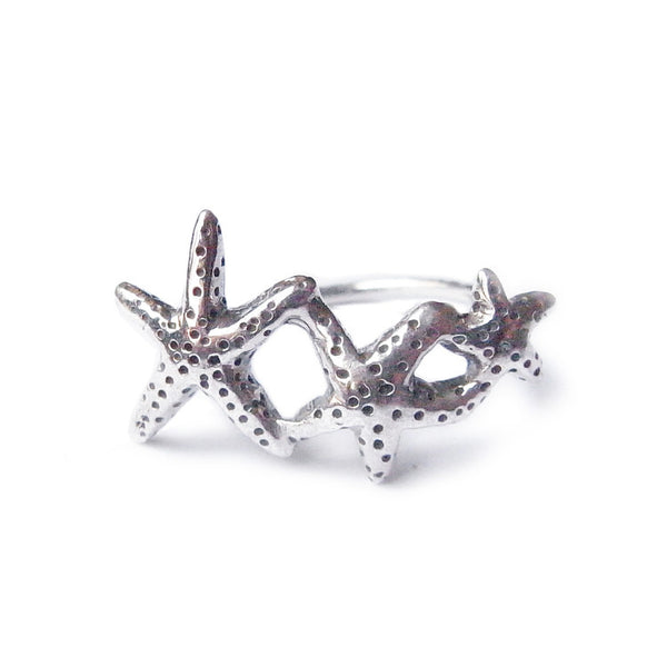 Starfish Ring Silver Product Shot