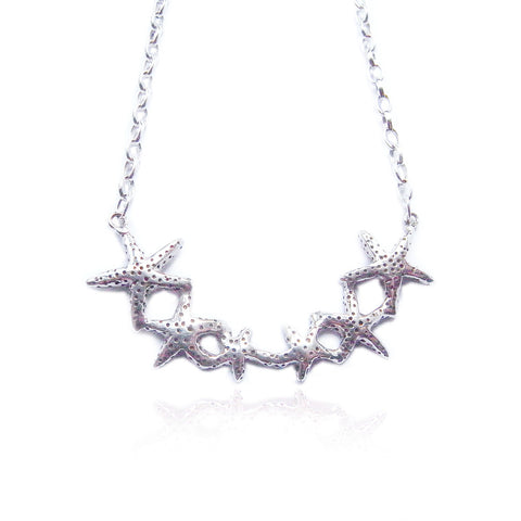 Starfish Necklace Silver Product Shot Main