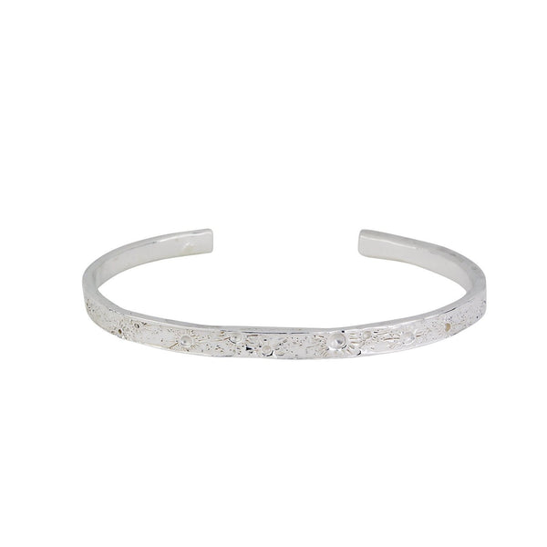 Moon crater bangle silver 4mm