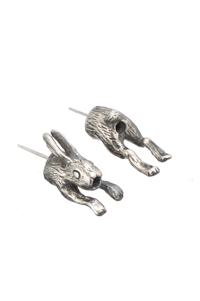 In and out rabbit earrings