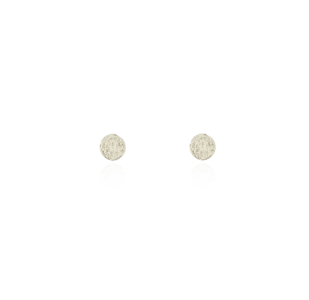 Mini moon disc studs silver
